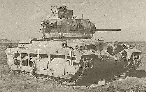 Британский танк Mark II «Матильда» в составе 5-ого танкового полка  21-й танковой дивизии в Северной Африке