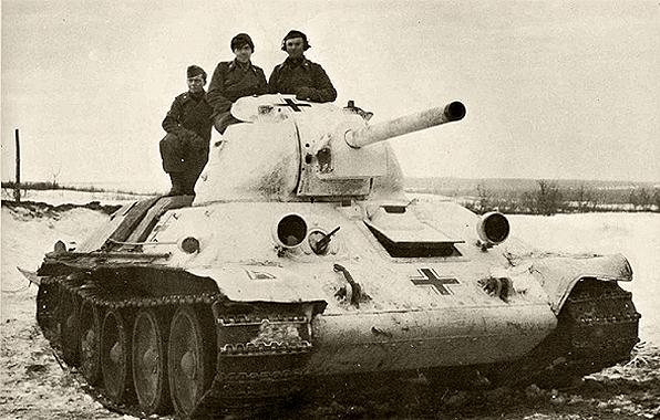 Танк Т-34/76 в составе 98 Пехотной дивизии Вермахта